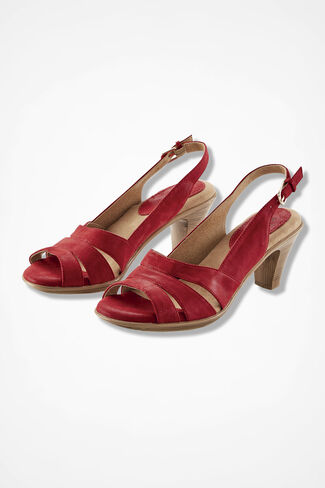 """Neima"" Slingbacks by Softspots®, Red, large"