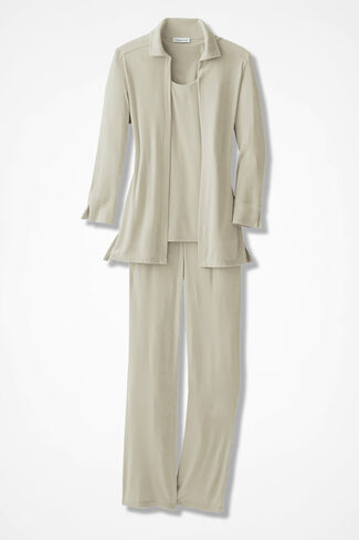 Elegance 3-Piece Pants Set, Alabaster, large