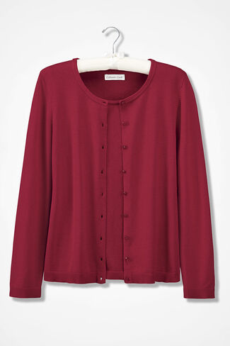 Classic Cardigan, Dover Red, large