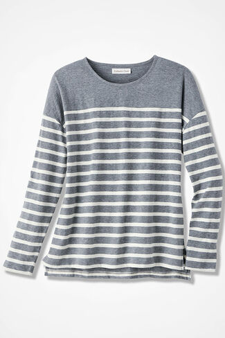 Striped-a-Lot Tee, Mid Heather Grey, large