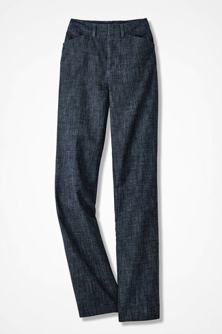 The NEW Chambray Gallery Pant, Dark Wash, large