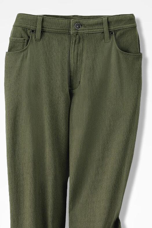 Knit Denim Straight-Leg Jeans, Cypress, large