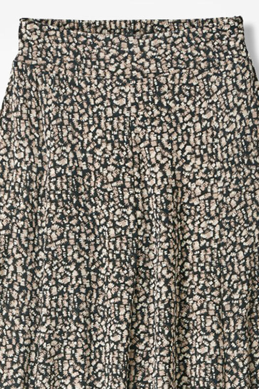 Destinations Geo-Print Gored Skirt, Dune, large