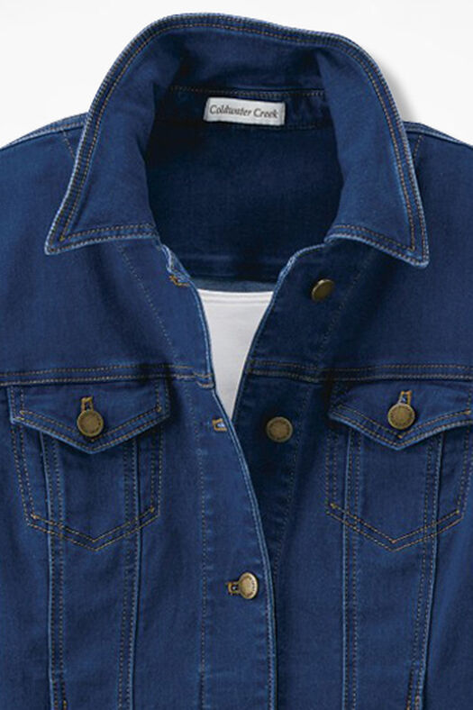 Denim Jacket, Medium Wash, large