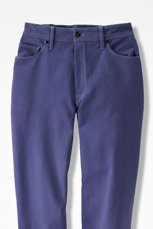 Knit Denim Straight-Leg Jeans, Thistle, large