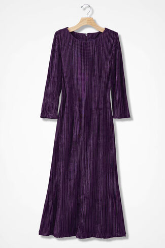 Luminosity Pleated Dress, Midnight Violet, large
