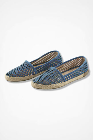 """Milo"" Suede Espadrilles by Adam Tucker®, Blue, large"