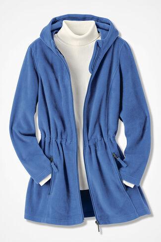 Great Outdoors Fleece Anorak, Cobalt, large