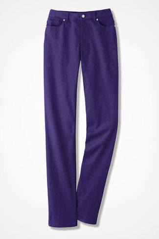 NEW The Creek® Slim-Leg Jeans, Dark Purple, large