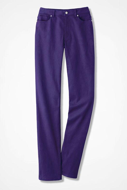 NEW The Creek® Slim-Leg Jeans, Dark Purple, large