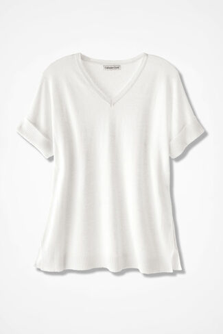 Breezy Point Sweater, White, large