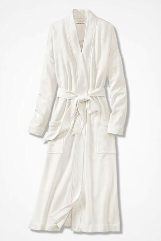 Superbly Soft Fleece Robe, Ivory, large