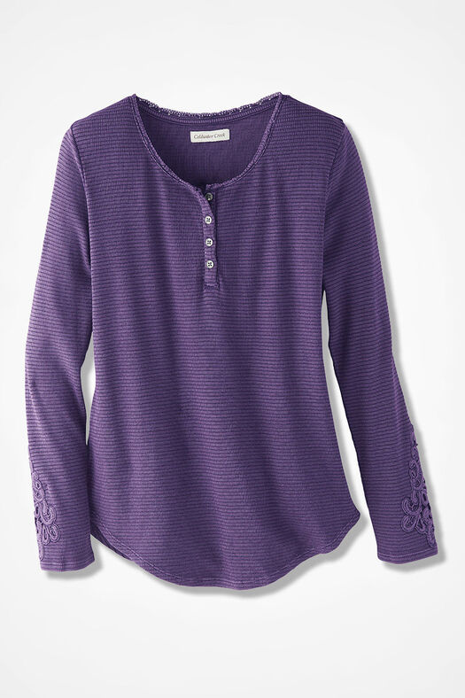 Spirit Sierra Henley, Dark Purple, large