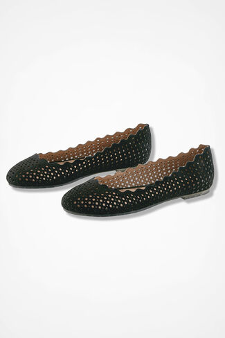"""Carlee"" Flats by Me Too®, Black, large"