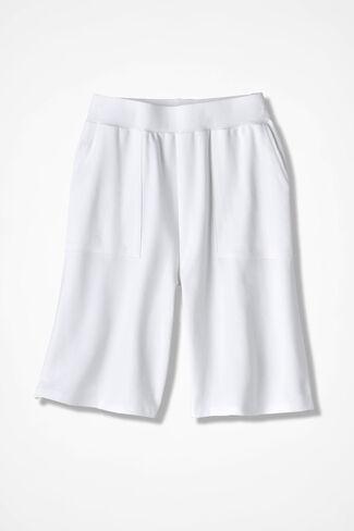Essential Supima® Shorts, White, large