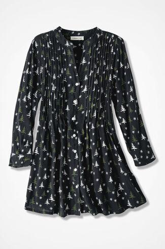 Winter's Night Tunic, Black, large
