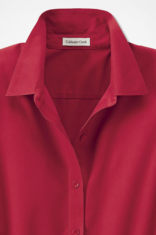 Three-Quarter Sleeve Easy Care Shirt, Fresh Red, large