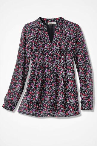 Rose Romance Blouse, Black Multi, large