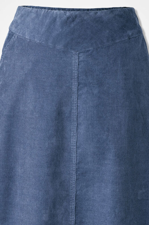 Pull-On Pincord Skirt, Ranch Blue, large