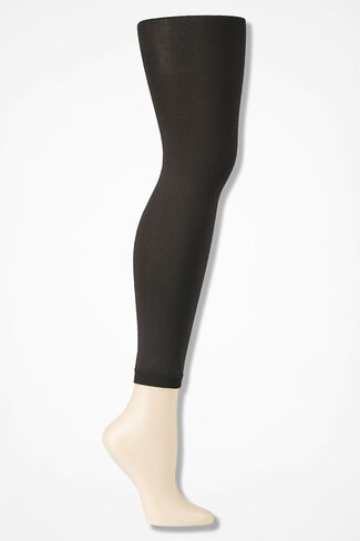 Coldwater Creek® Opaque Footless Tights, Brown, large