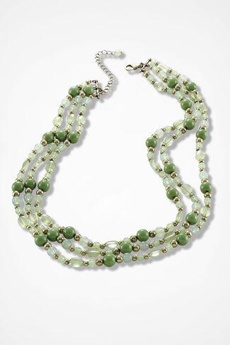 Tonal Cascade Necklace, Mountain Green, large