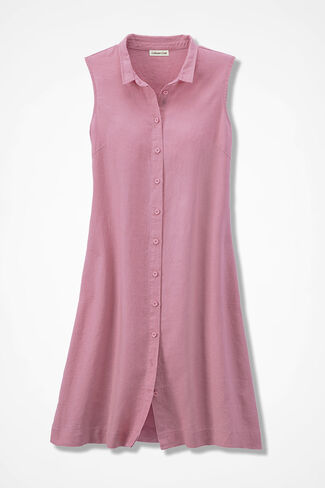 Pure and Simple Linen Dress, Tea Rose, large