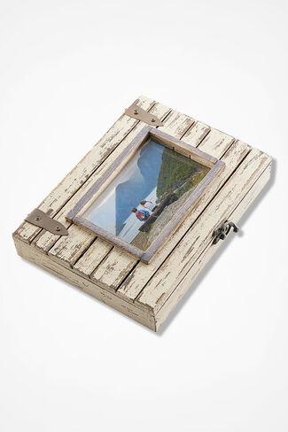Hidden Keepsakes Photo Box, Ivory, large