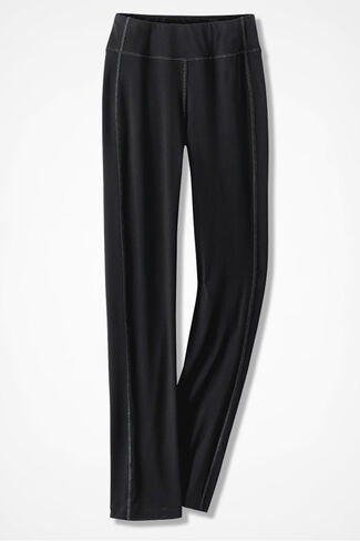 Relax and Rewind Slim Bootcut Pants, Black, large