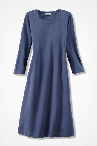 Simply Charming Skimmer Dress, Ranch Blue, large