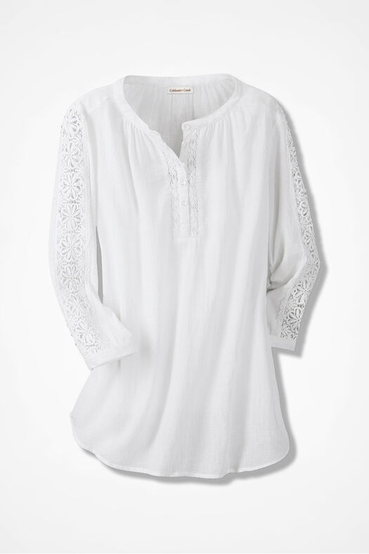Poet at Heart Peasant Blouse, White, large