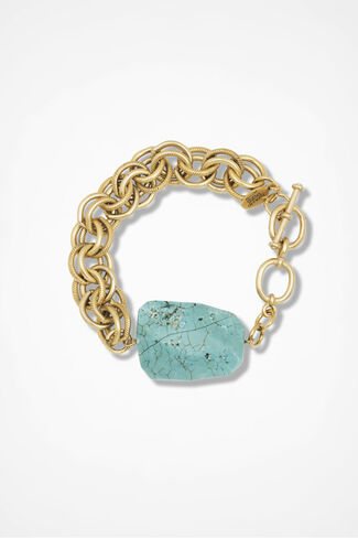 Semi-Precious Stone Bracelet, Turquoise, large