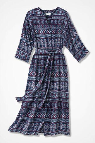 Western Spirit Dolman Dress, Blue Multi, large