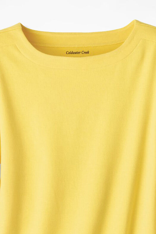 Essential Supima® Boatneck Tee, Canary Yellow, large