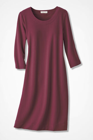 Simply Charming Skimmer Dress, Garnet, large
