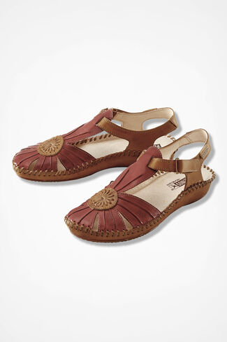 """""""Original Vallarta"""" Leather Sandals by Pikolinos®, Red, large"""
