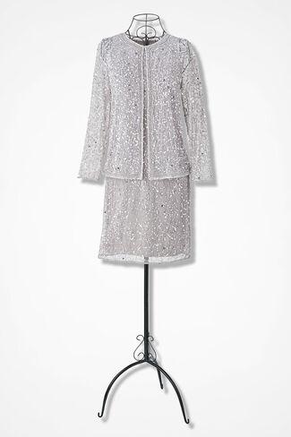 Starglow Jacket Dress by Pisarro Nights, Silver, large