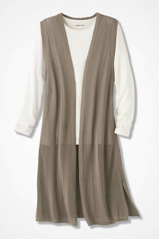 Neutral Territory Textured Vest, Desert Taupe, large