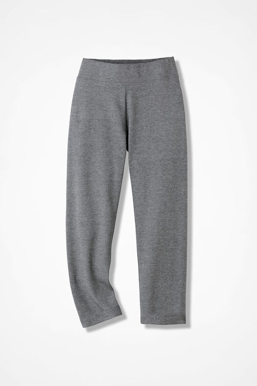 Essential Supima® Cropped Leggings, Mid Heather Grey, large