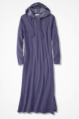 Hooded Fleece Lounger, Deep Thistle, large