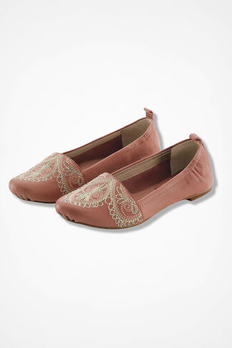 """Barlowe"" Leather Flats by Latigo®, Canyon Rose, large"