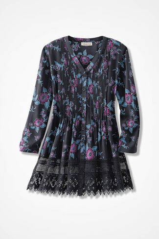 Let-It-Bloom Gracious Lace Blouse, Black Multi, large