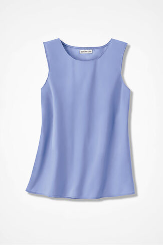 Do-It- All Sleeveless Shell, Light Periwinkle, large