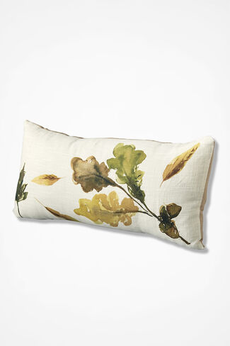 Art of Nature Leaf Pillow, Ivory, large