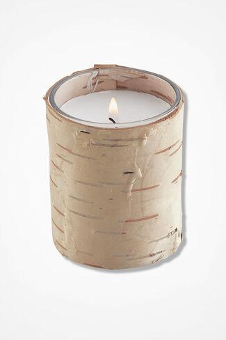 Natural Birch Cylinder Candle, Natural, large