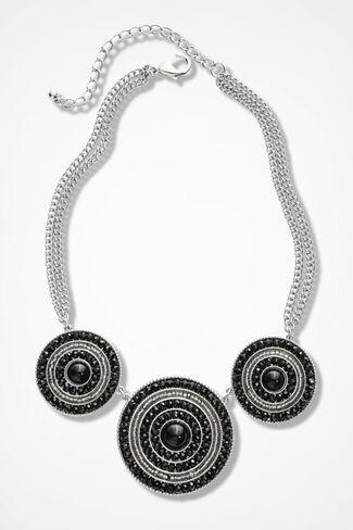 Midnight Aura Necklace, Black Multi, large