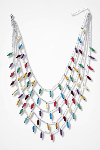 Tiers of Joy Necklace, Multi, large