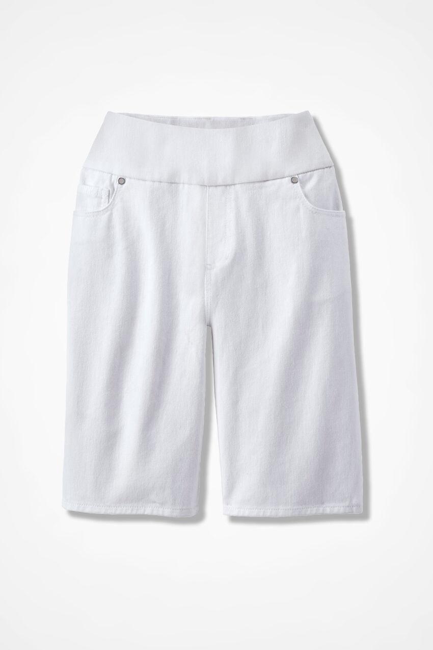 Knit Denim Pull On Shorts