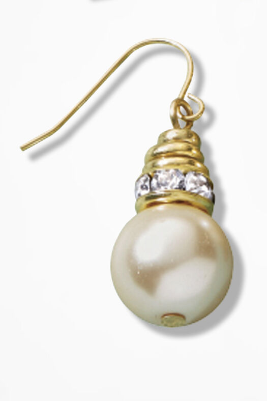Pearls & Charms Earrings by Lenora Dame, Gold, large