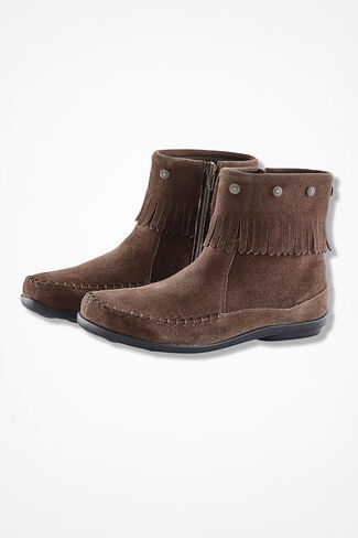 """""""Free Spirit"""" Suede Boots by Walk With Me™, Brown, large"""