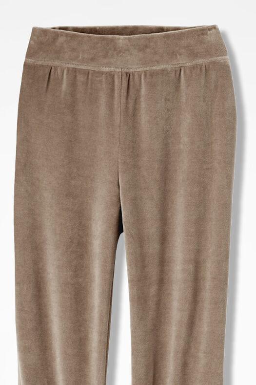 Velour du Jour Straight-Leg Pants, Toast, large